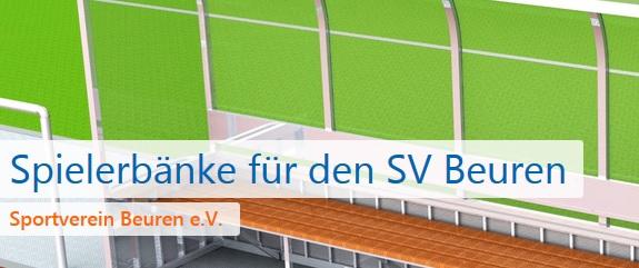 Spielerbänke für den SVB